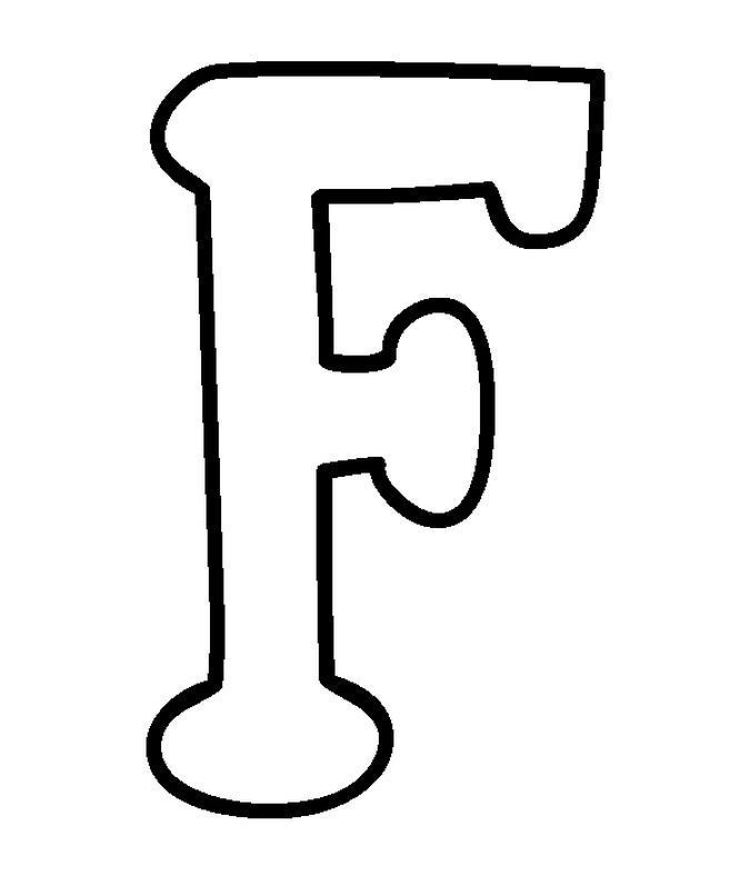Capital Letters F Coloring Pages