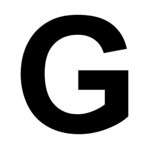 molde letra g
