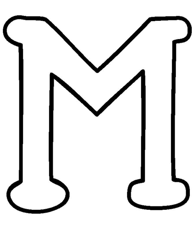 Capital Letter M Coloring Pages