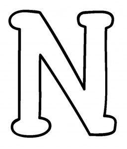 molde letra n