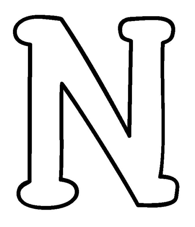 Capital Letter N Coloring Pages