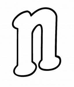 moldes letra n