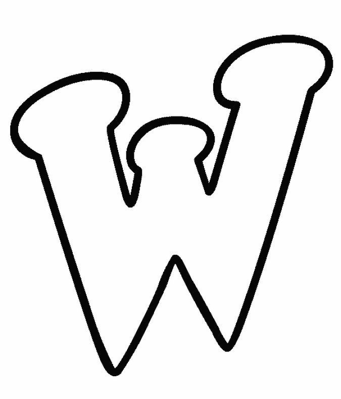 W Bubble Letters Coloring Pages