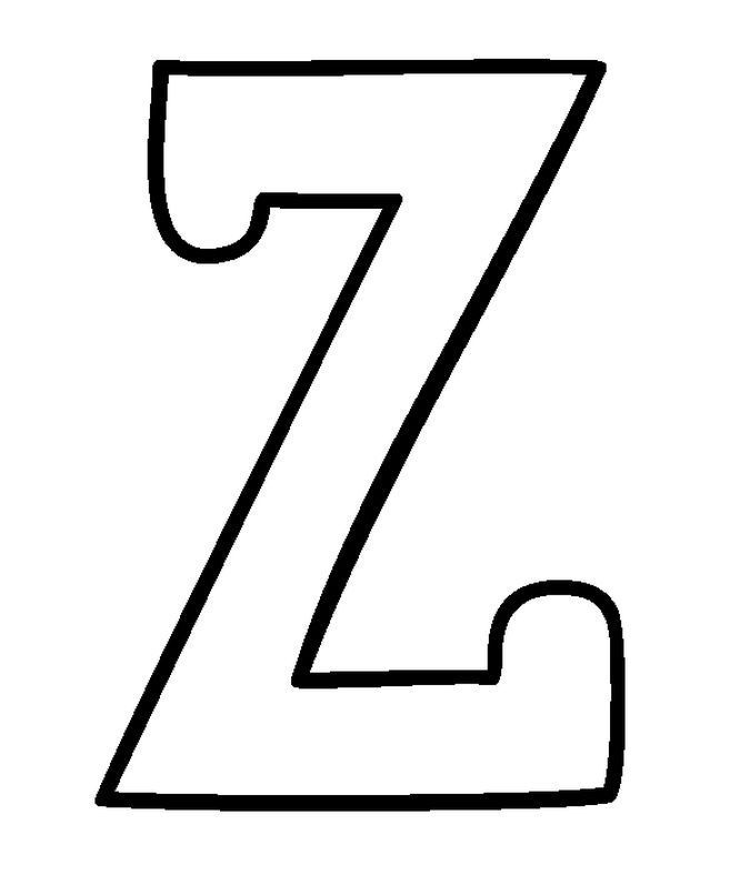 Capitals Letter Z Coloring Pages