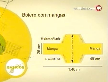 patrones BOLERO