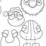 Molde de posavasos para Navidad