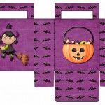 Moldes de cajas para Halloween
