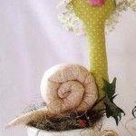Molde de caracol de tela