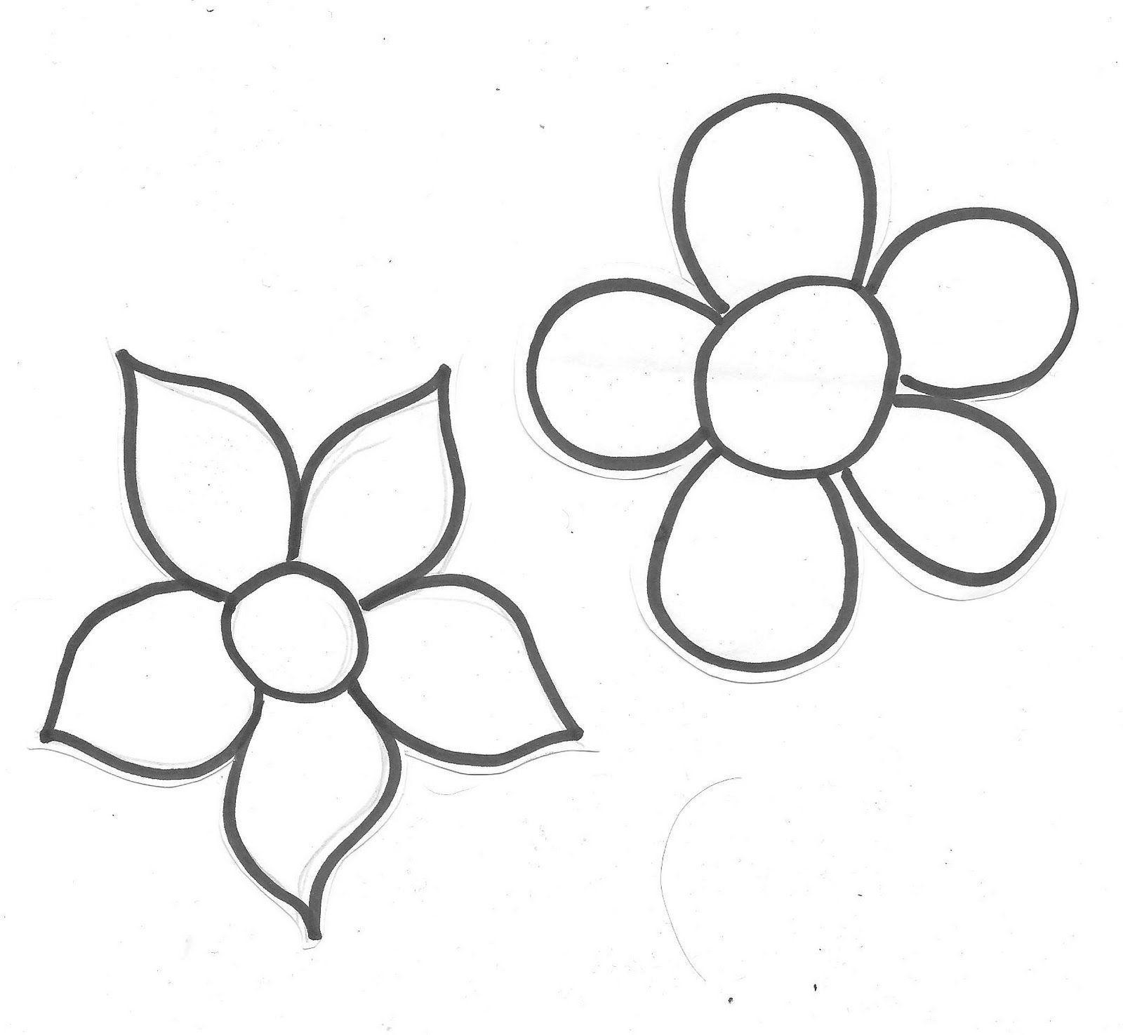 Moldes De Flores Y Corazon En Fieltro